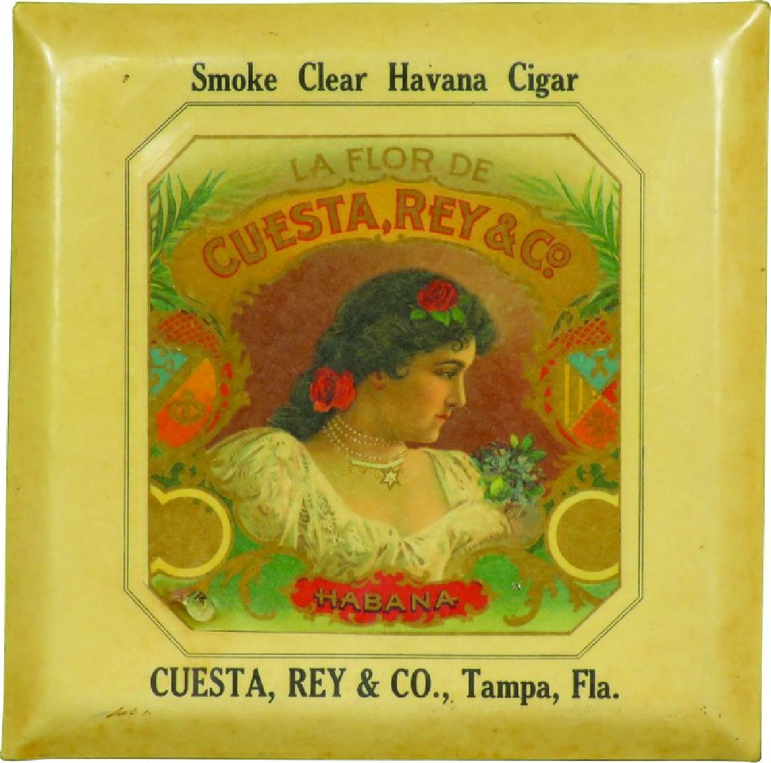 Cuesta Rey & Co. Havana Cigars Celluloid Sign