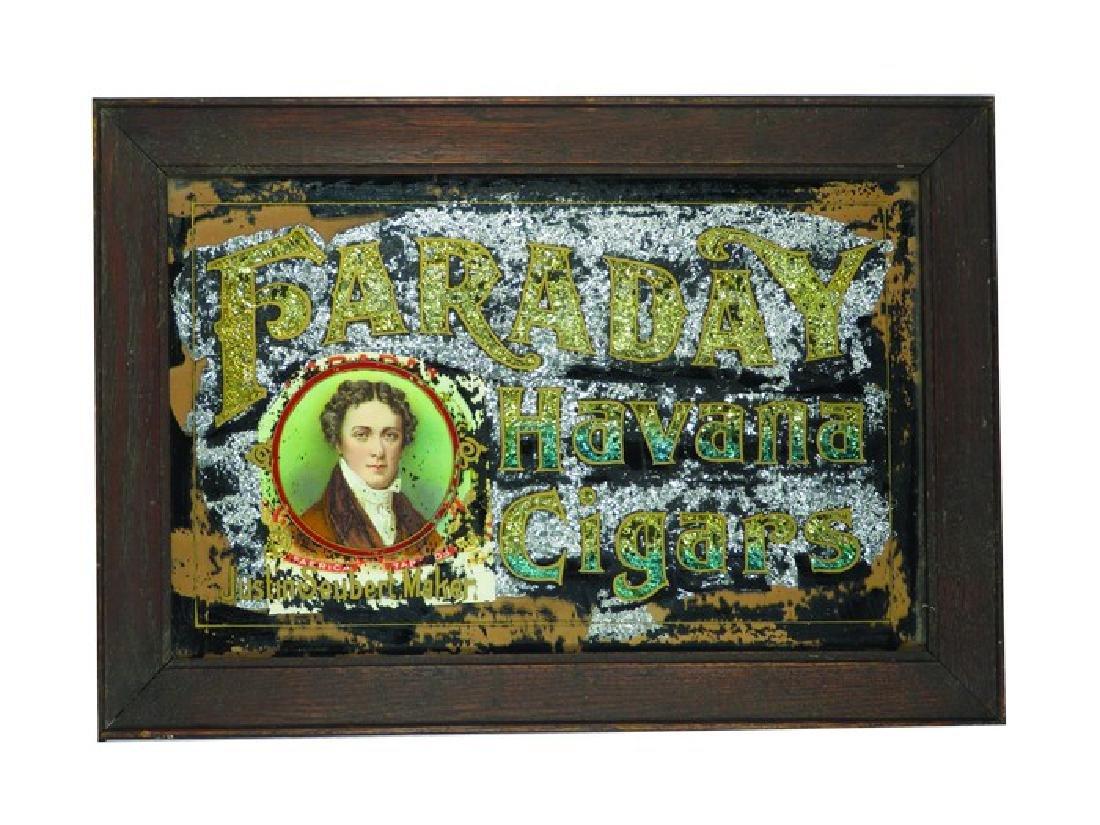Faraday Havana Cigars Reverse Glass Sign