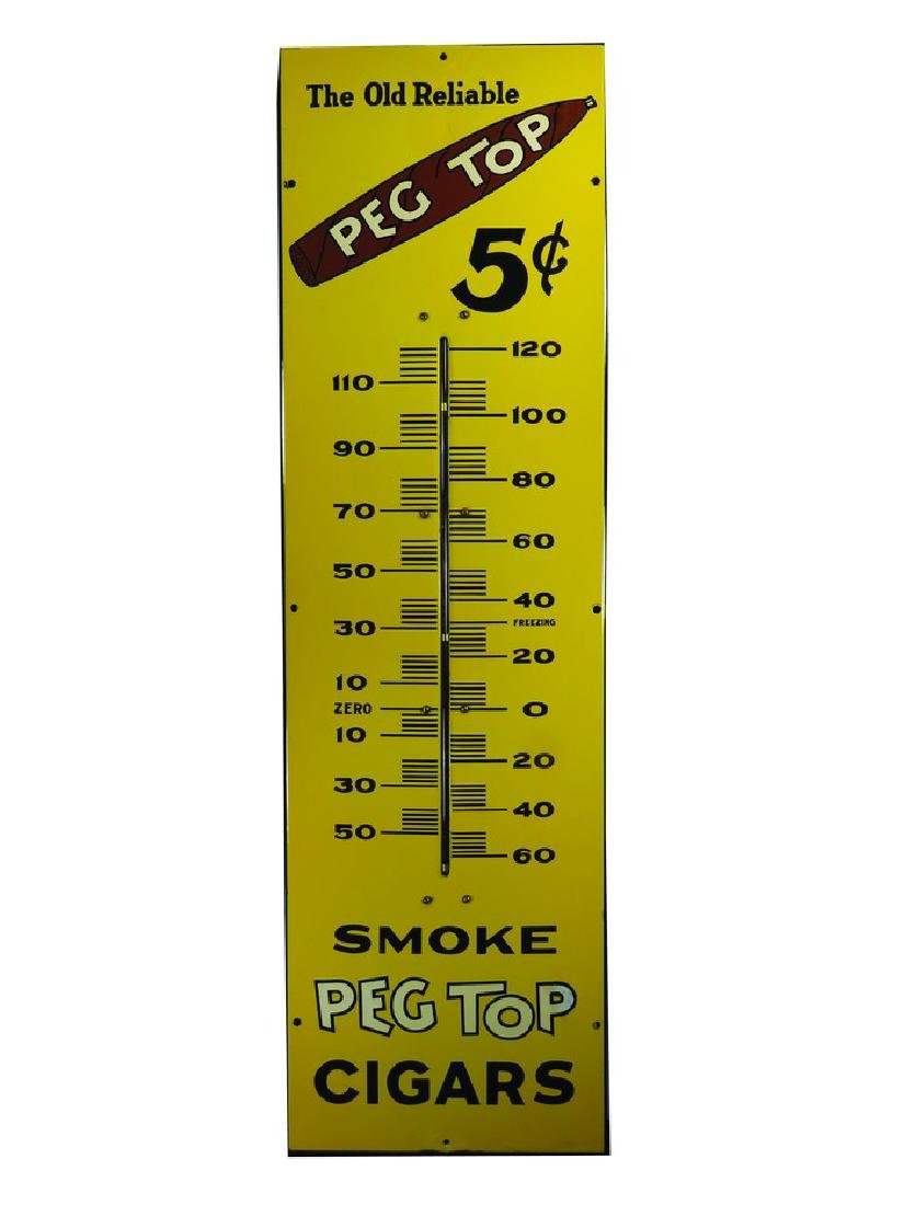Old Reliable Peg Top Cigars Thermometer