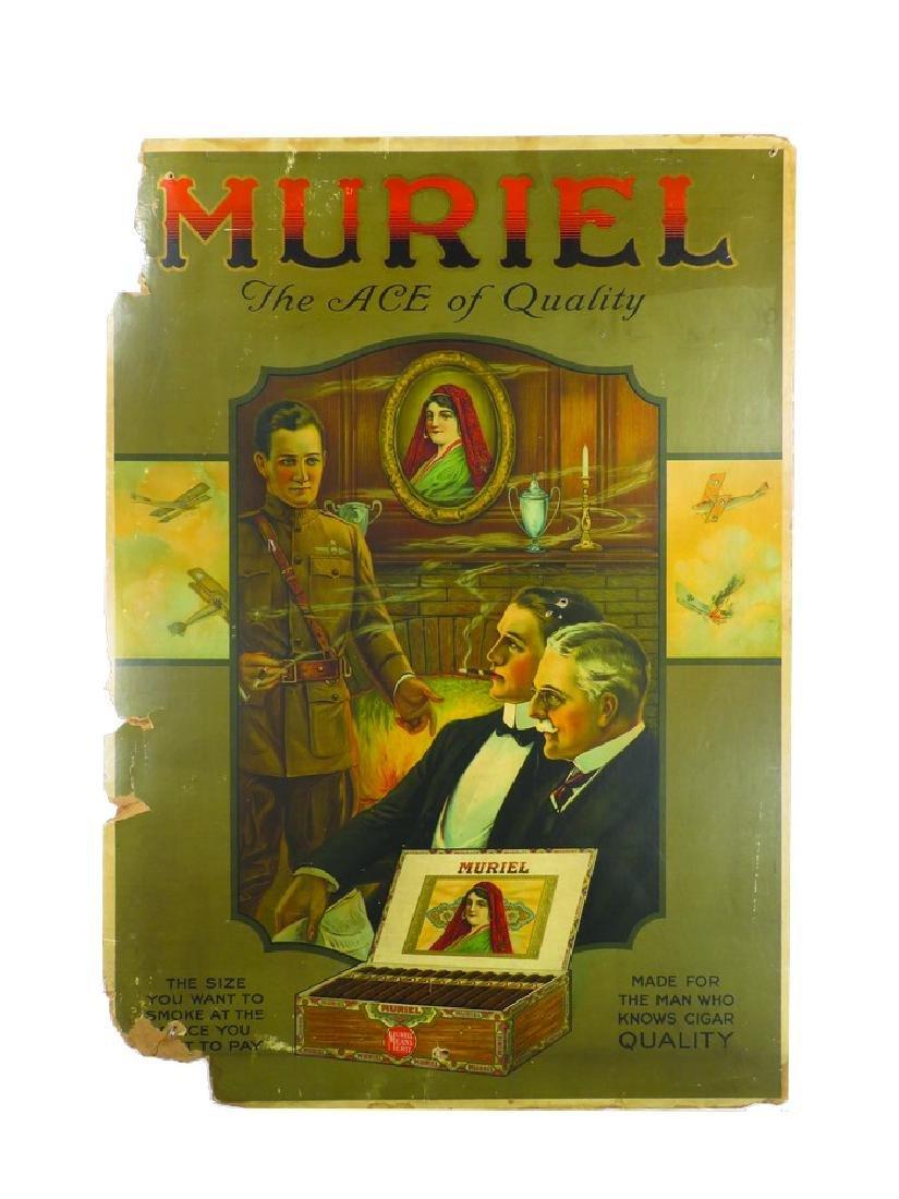 Muriel Cigars Cardboard Sign