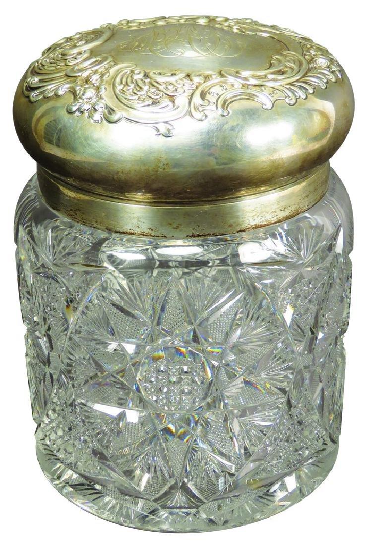 American Brilliant Cut Glass Humidor
