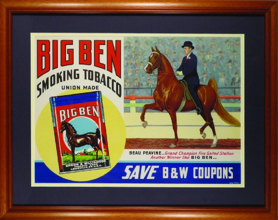 Big Ben Smoking Tobacco Paper Sign
