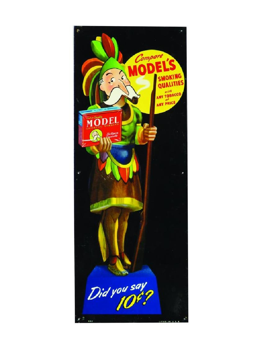 Model's Smoking Tobacco Tin Sign
