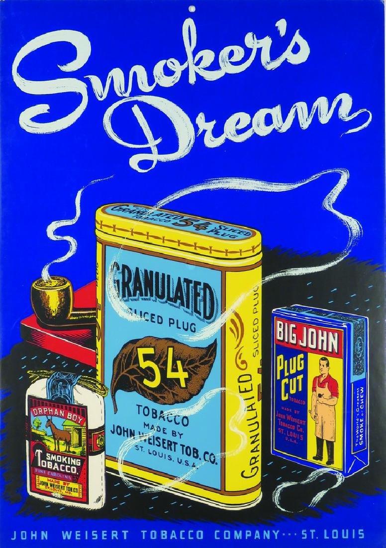 John Weisert Tobacco Co. St. Louis Cardboard Sign