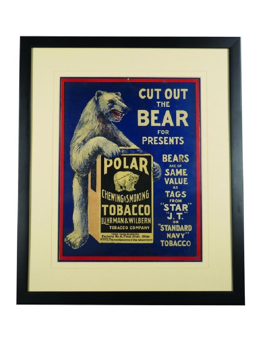 Polar Bear Chewing & Smoking Tobacco Sign