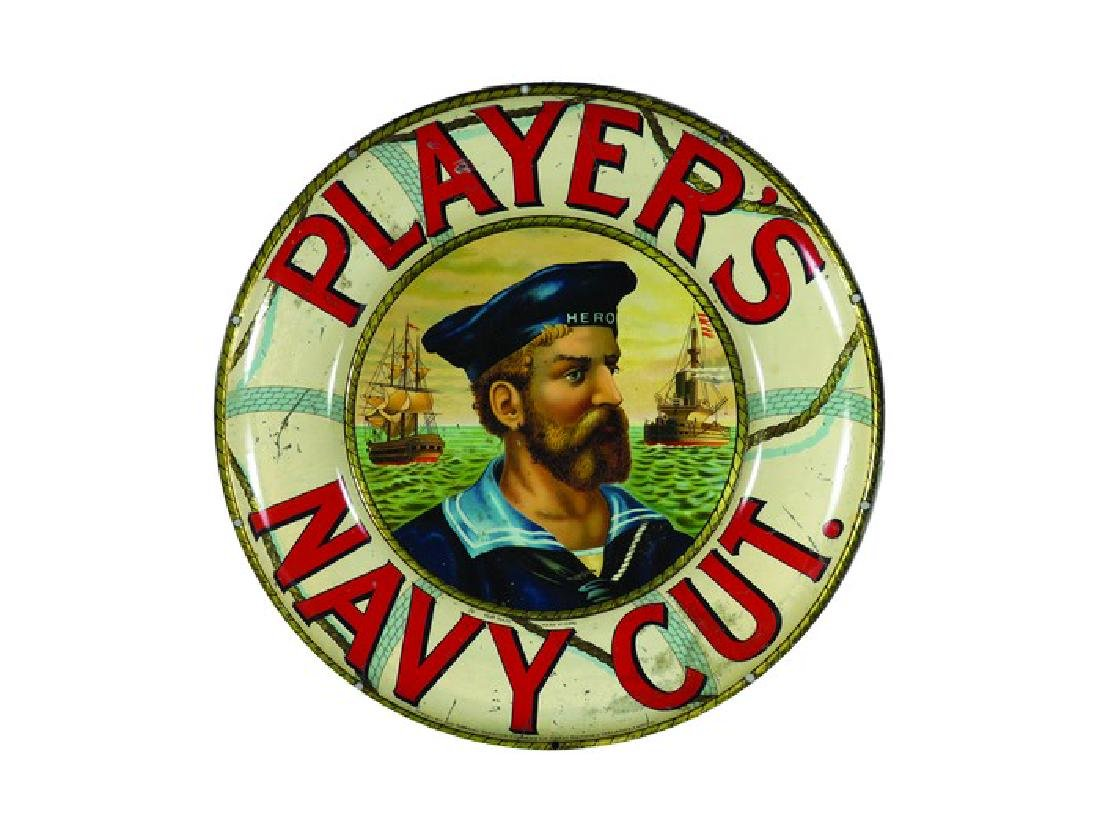 Extremely Rare Player's Navy Cut Cigarettes Sign
