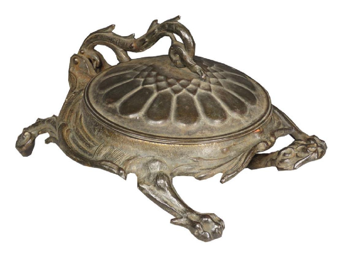 Cast Iron Victorian Turtle Spittoon