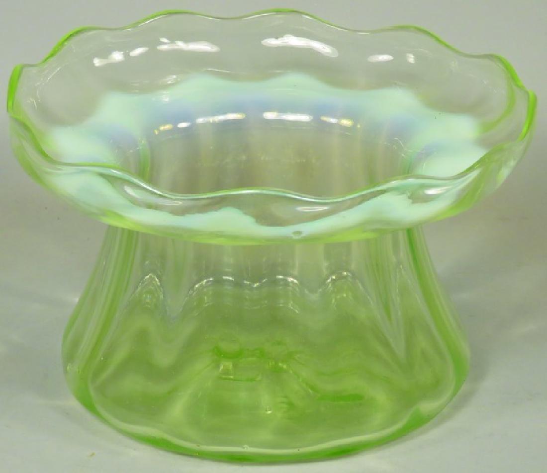 Antique Vaseline Glass Spittoon