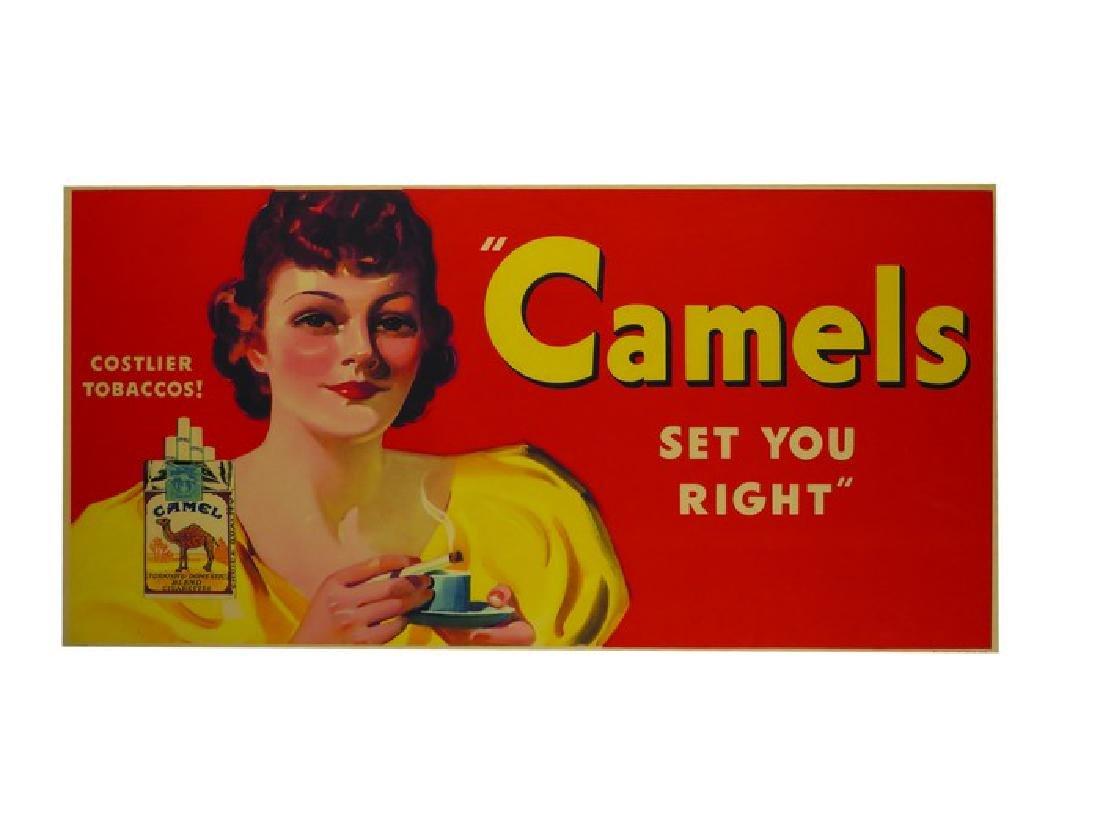 Camels Cigarettes Paper Sign