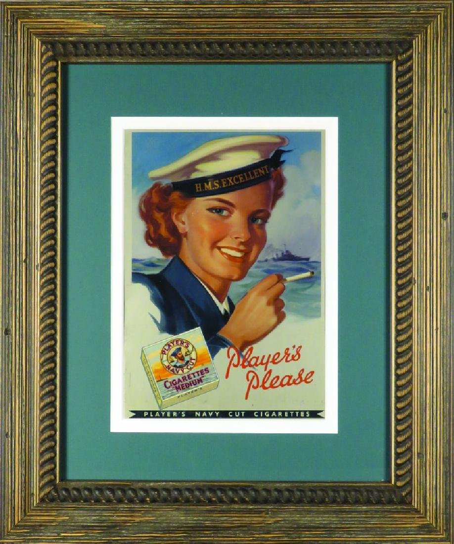 Player's Navy Cut Cigarettes Tin Sign