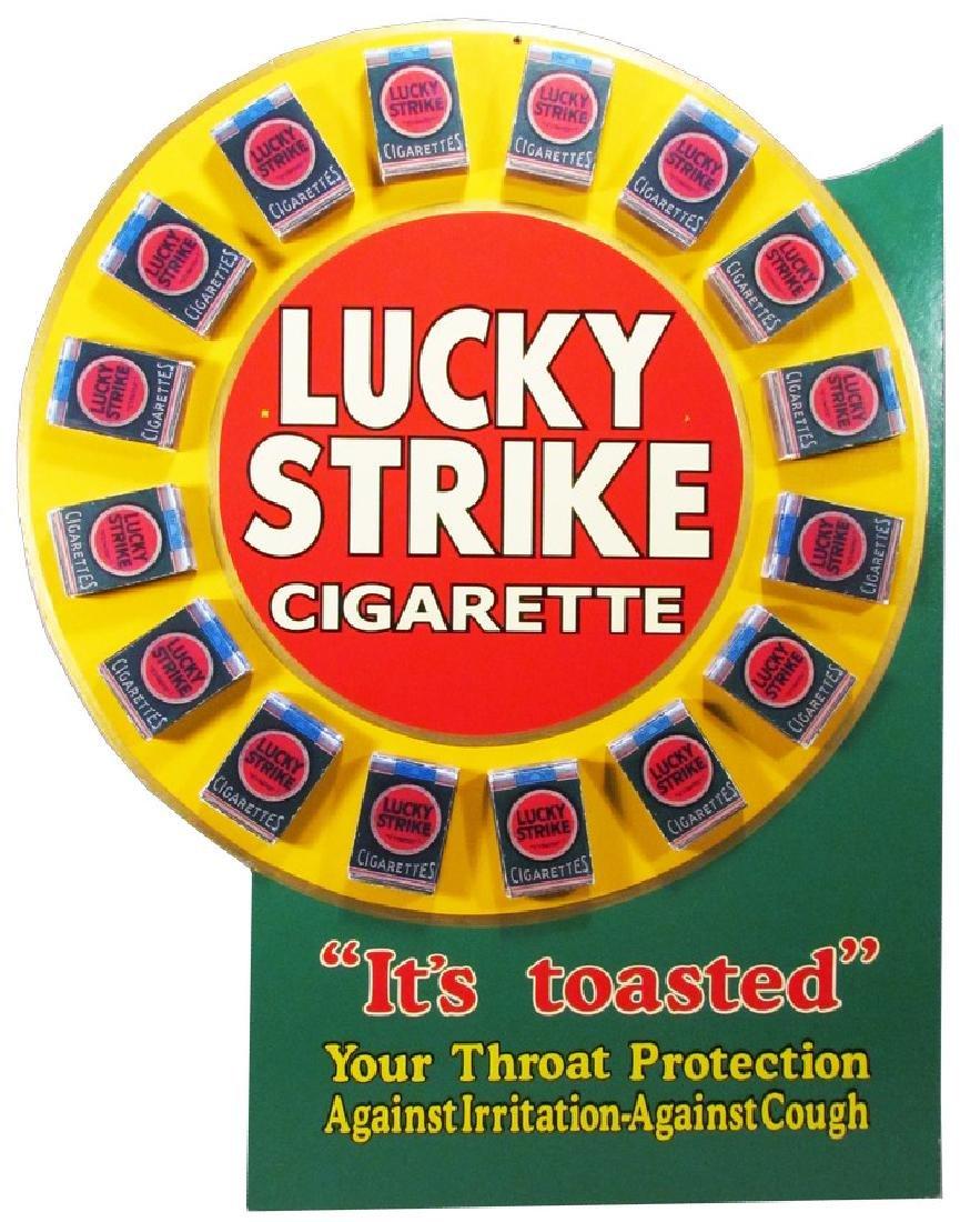 Rare Lucky Strike Die Cut Hardboard Store Display