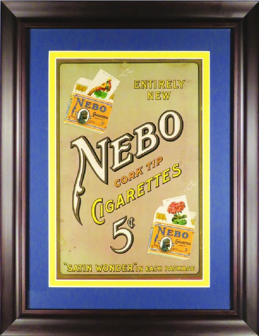Nebo Cork Tip Cigarettes Cardboard Sign