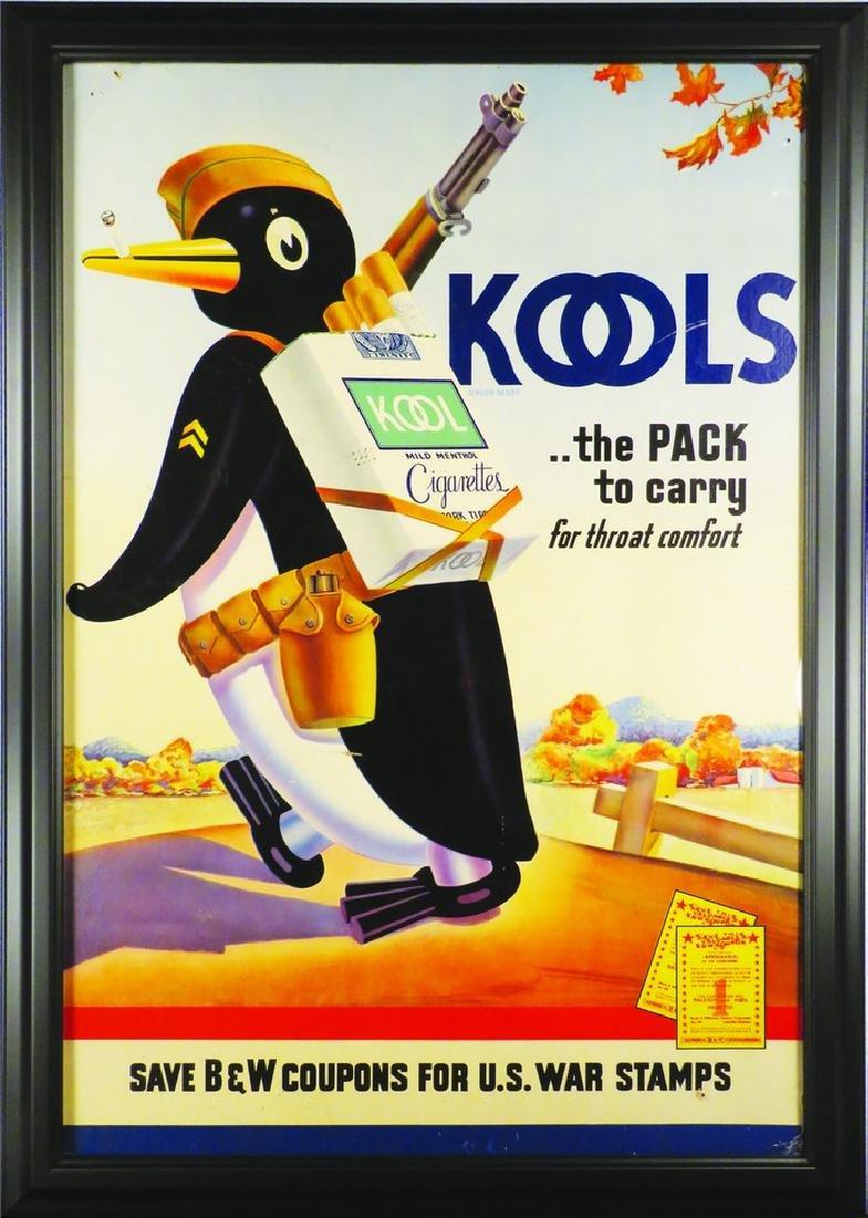 Kool's Cigarettes Cardboard Sign