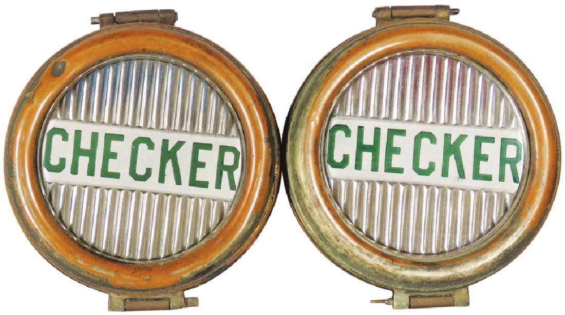 Pair of Early Checker Cab Head Lights