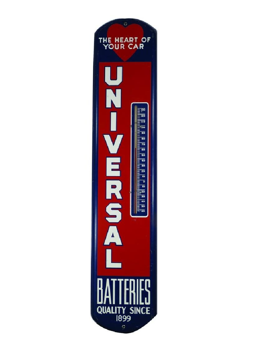 Universal Batteries Tin Thermometer