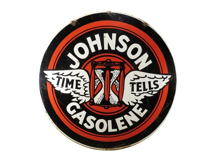 Johnson Gasoline Porcelain Sign