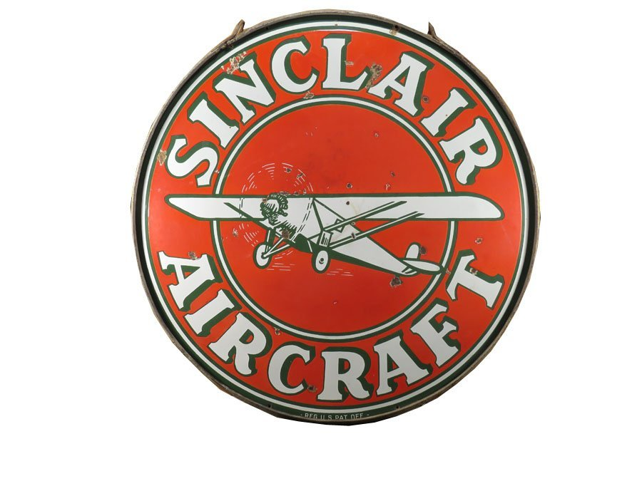 Sinclair Air Craft Porcelain Sign