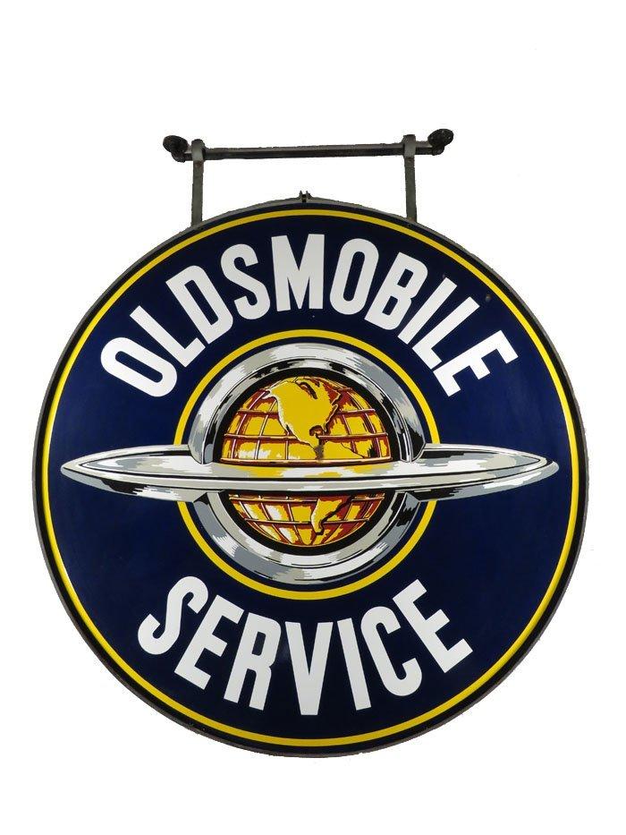 Oldsmobile Service Porcelain Sign