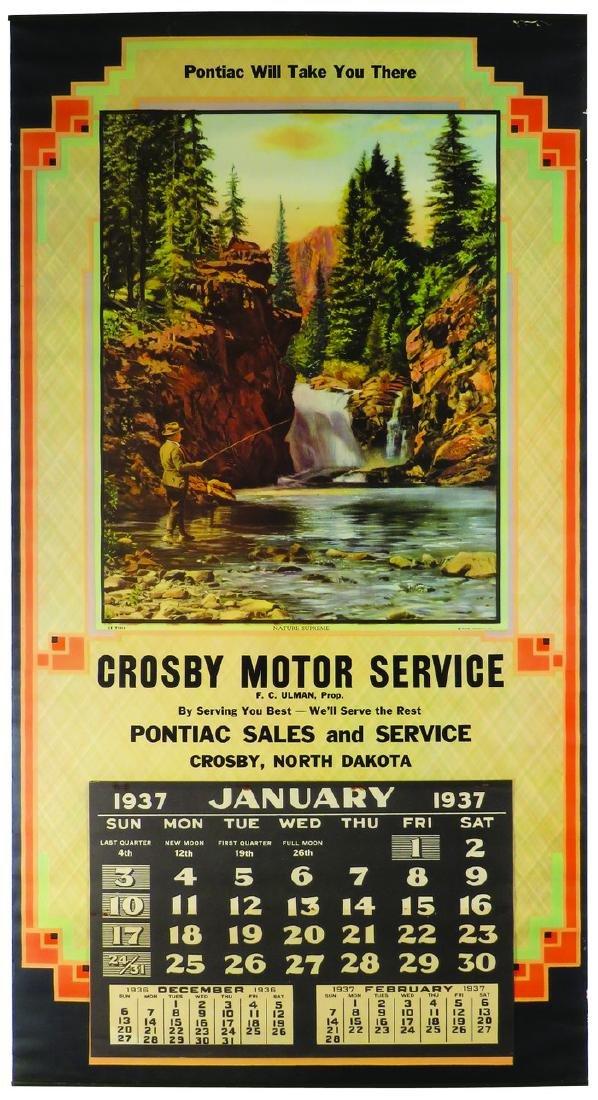 1937 Pontiac Sales and Service Calendar