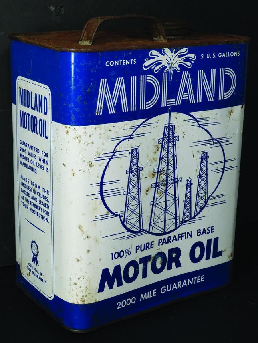 Midland Motor Oil Two Gallon Can