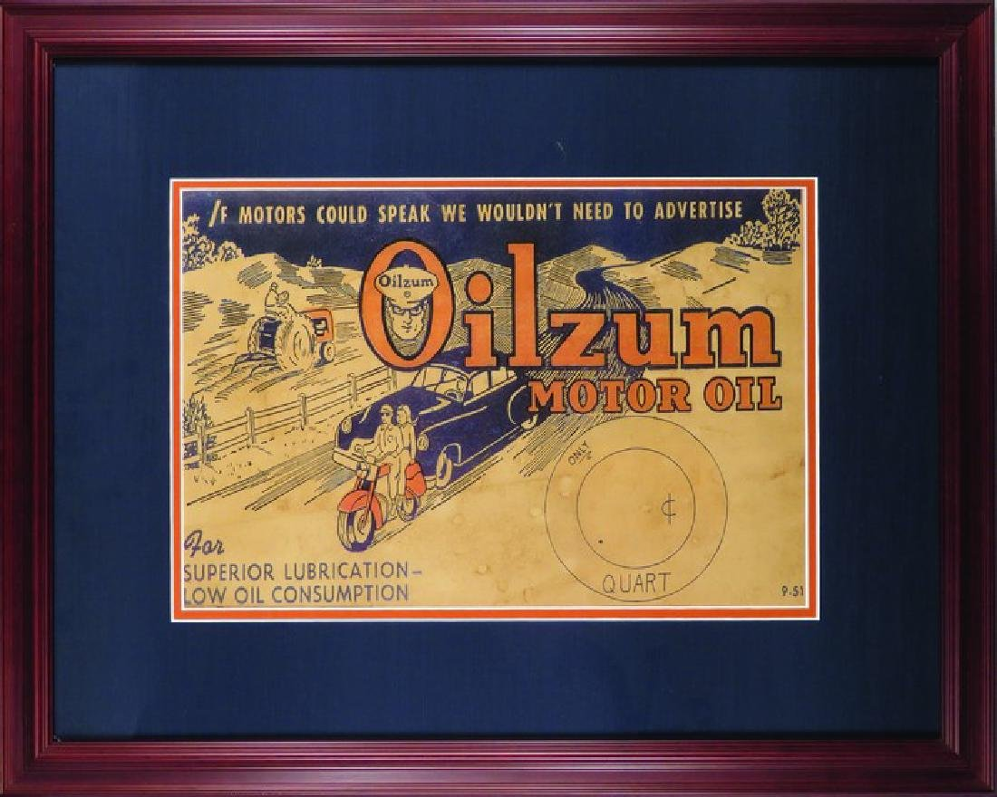 Oilzum Motor Oil Price Sign