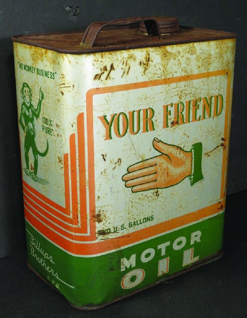 Your Friend Motor Oil Two Gallon Can