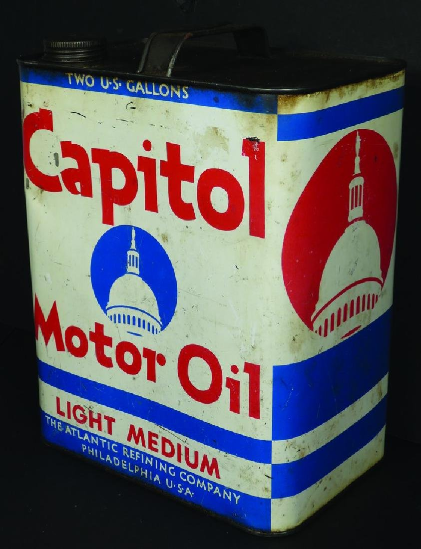 Capitol Motor Oil Two Gallon Can