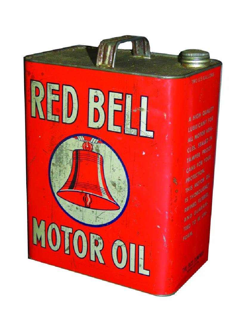 Red Bell Motor Oil Two Gallon Can