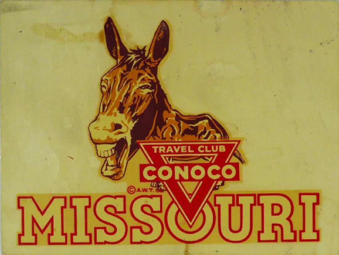 Conoco Travel Club Missouri Decal