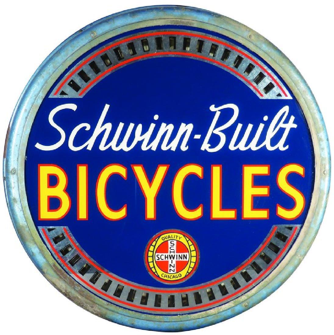 Rare Schwinn Bicycle light up spinner sign