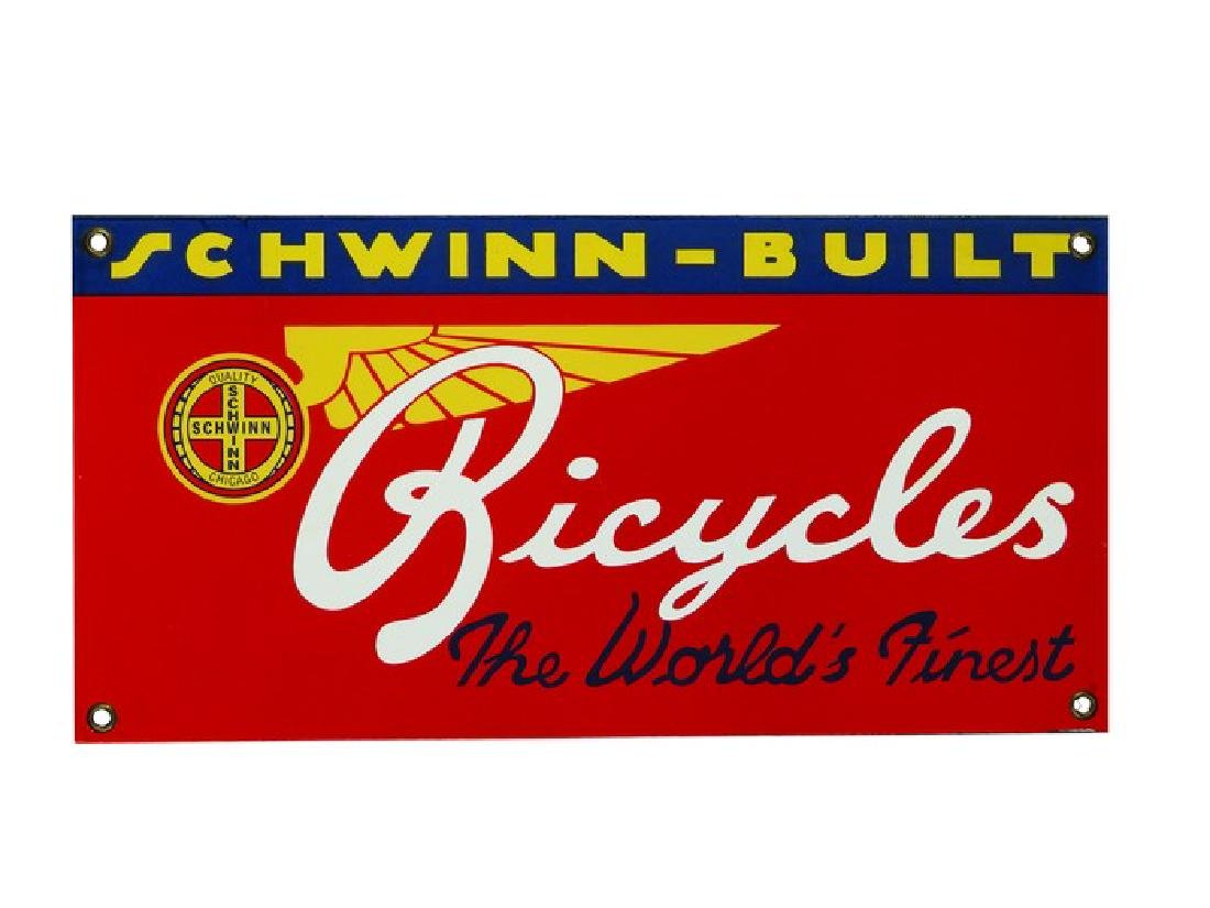 Schwinn - Built Bicycles Porcelain Sign