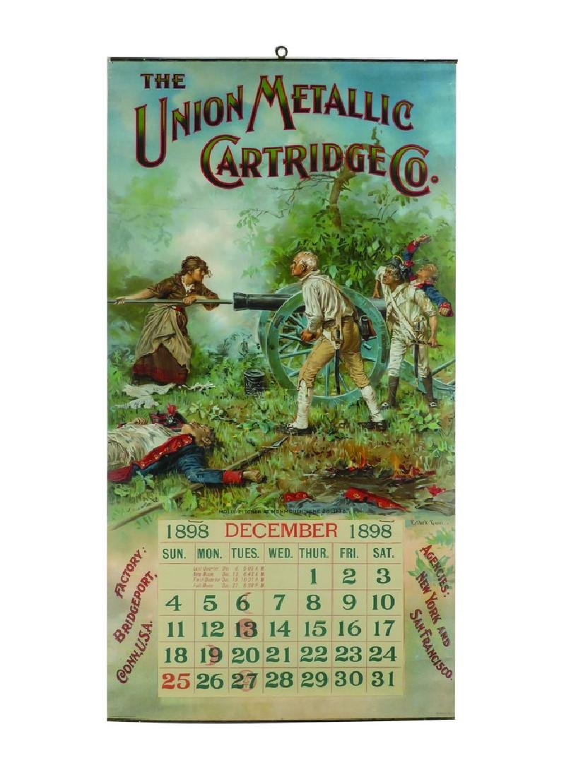 1898 Calendar for the Union Metallic Cartridge Co.