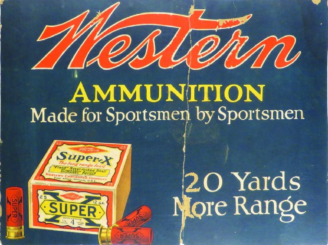 2 partial signs including a Western Ammunition