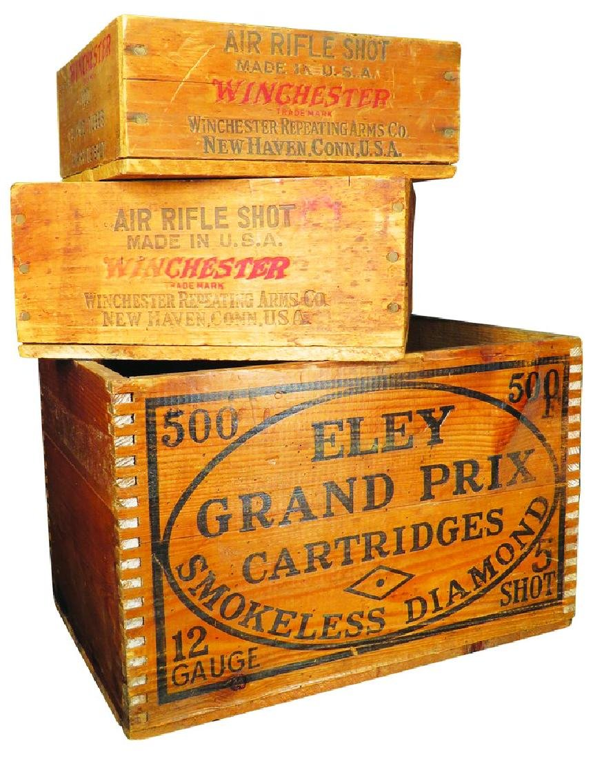 Collection of Wood Shot Shell Crates