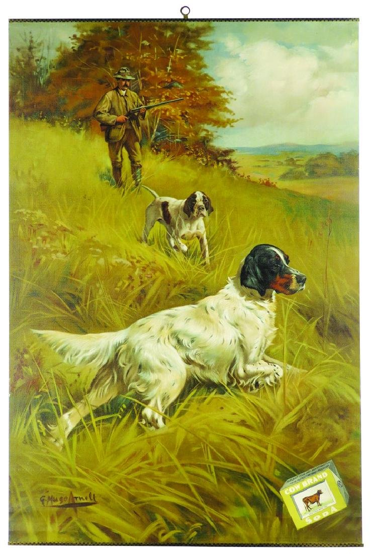Cowbrand Soda Hunting Motif Advertising Poster