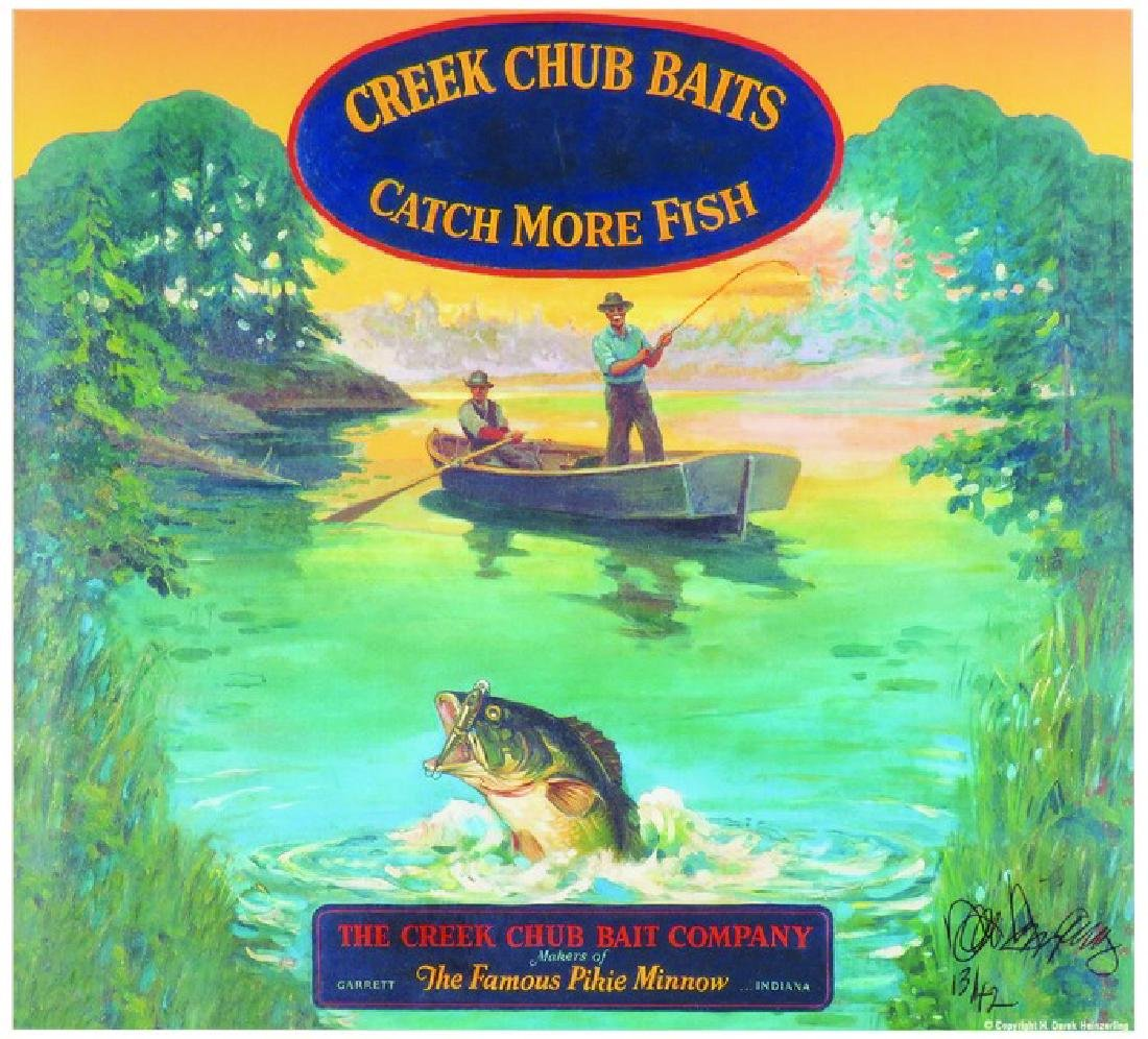 Creek Chub Baits Limited Edition Advertising Print
