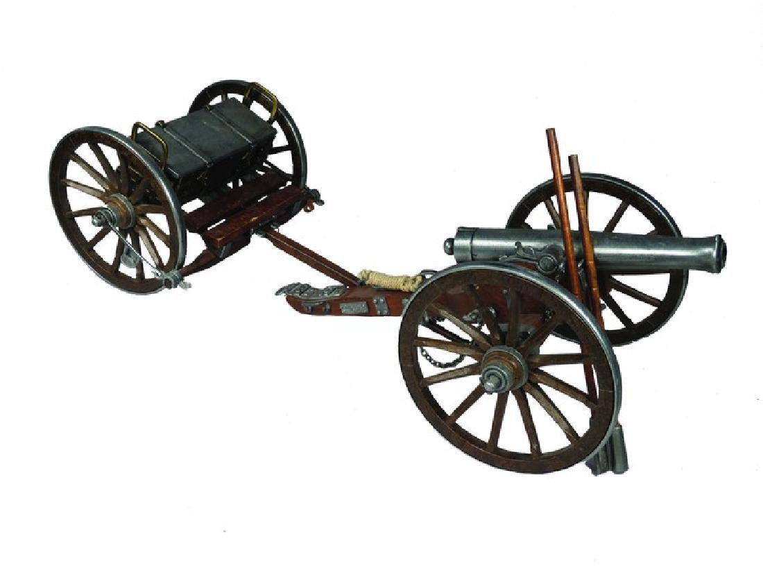 Civil War 1861 Cannon & Supply Limber Model