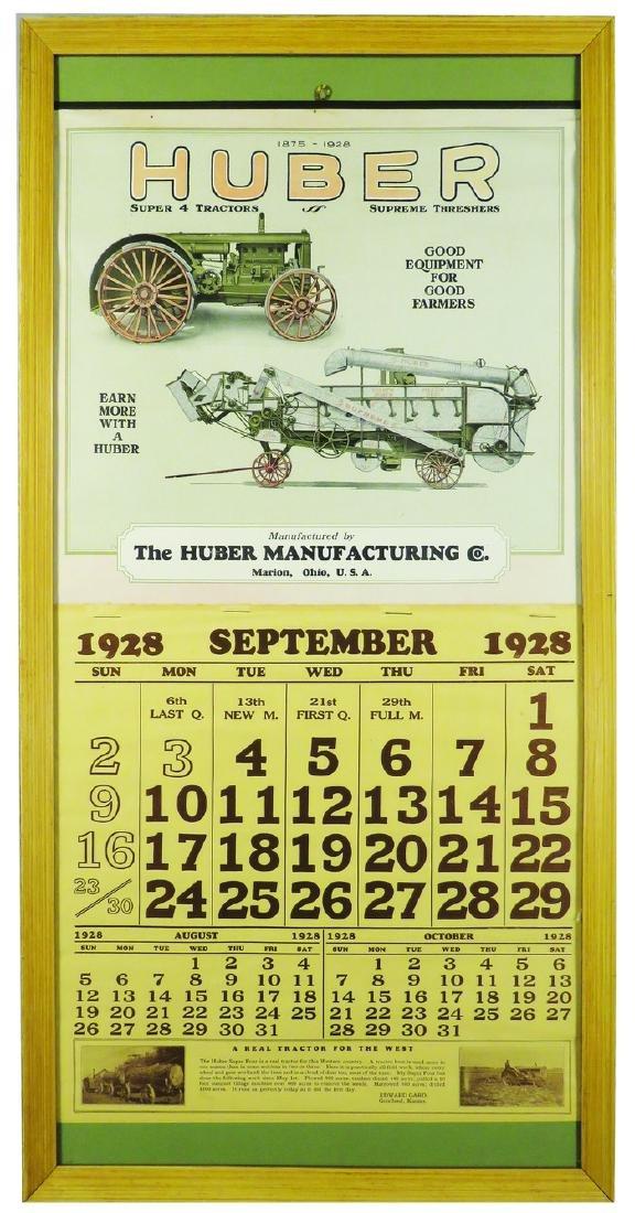 1928 Calendar for Huber Farm Equipment