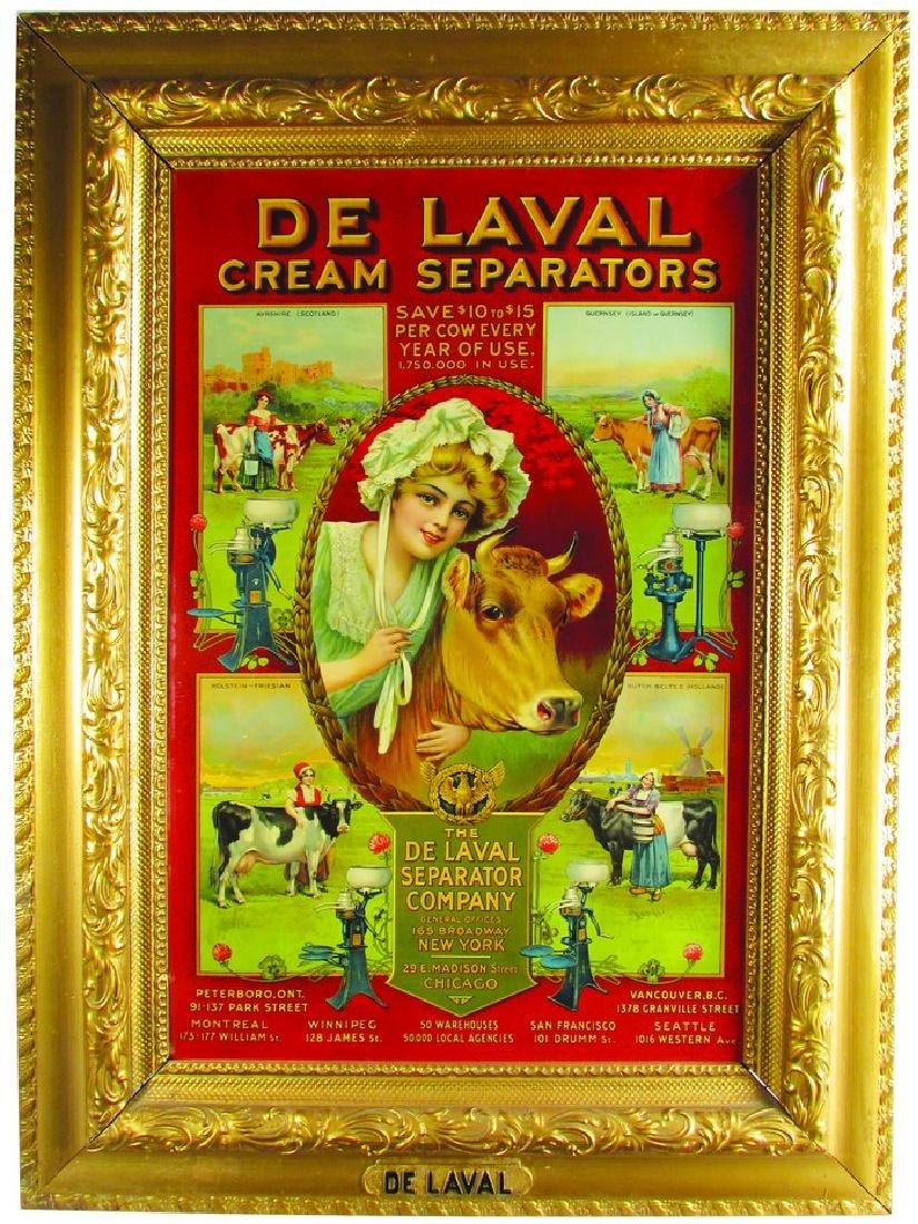 1907 DeLaval Cream Separators Sign Red Version
