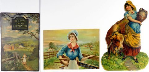 3 De Laval Cream Separator Trade Cards