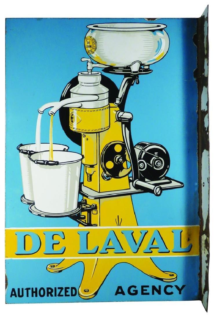 De Laval Cream Separator Porcelain Flange Sign