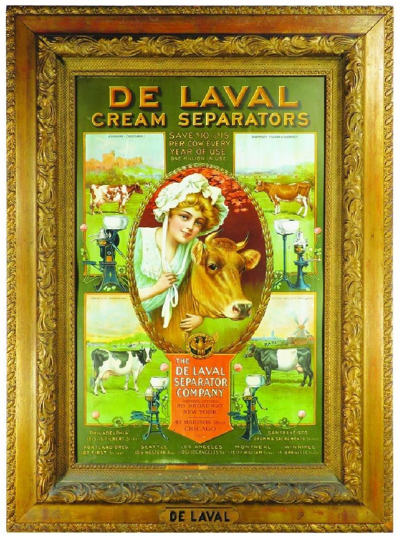 1907 DeLaval Cream Separators Tin Sign