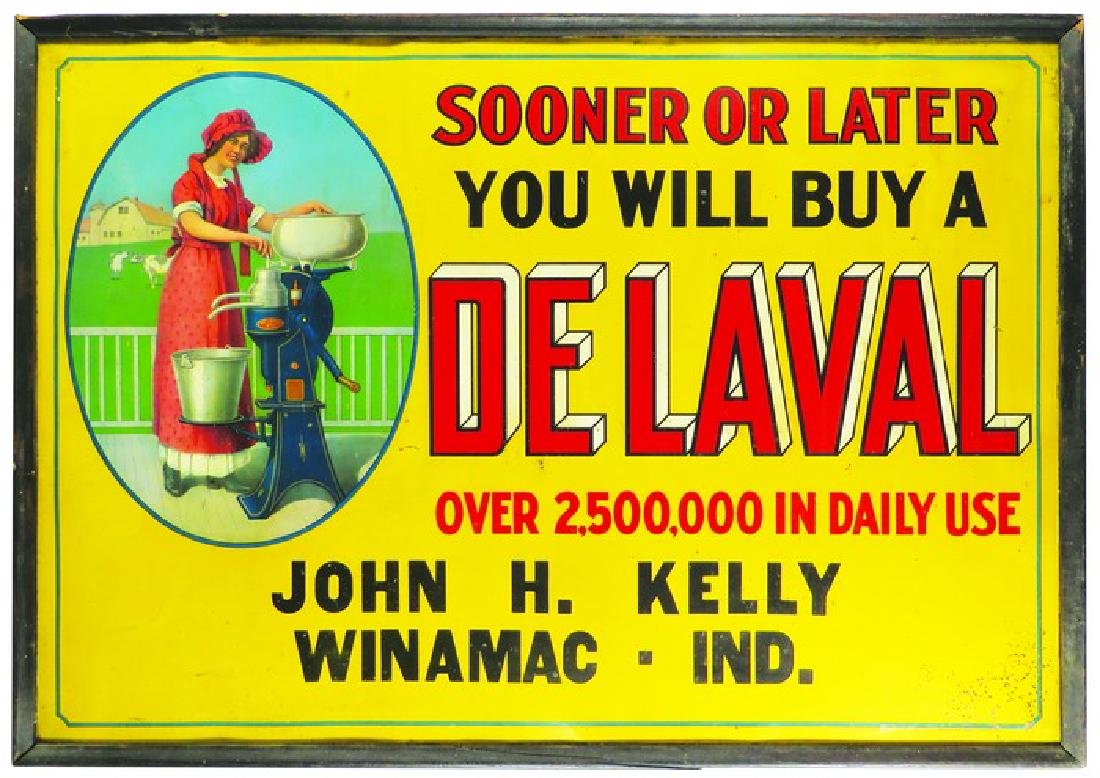 De Laval Cream Separator Tin Sign