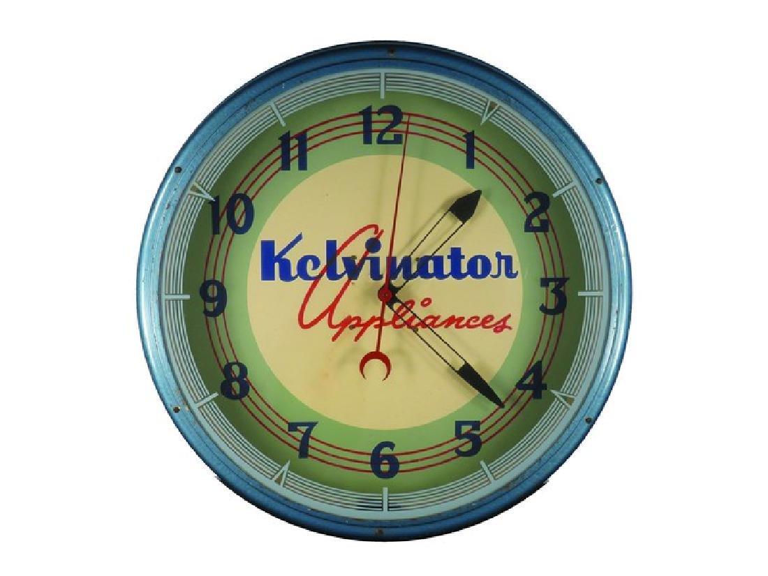 Kelvinator Appliances Advertising Clock
