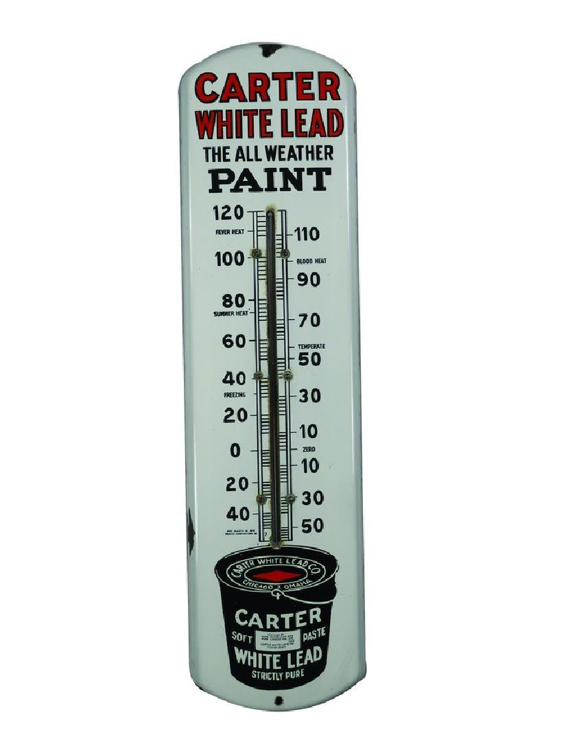 Carter White Lead Paint Thermometer