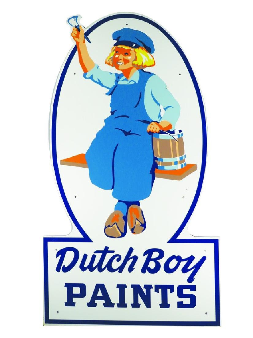 Large Dutch Boy Paints Porcelain Sign