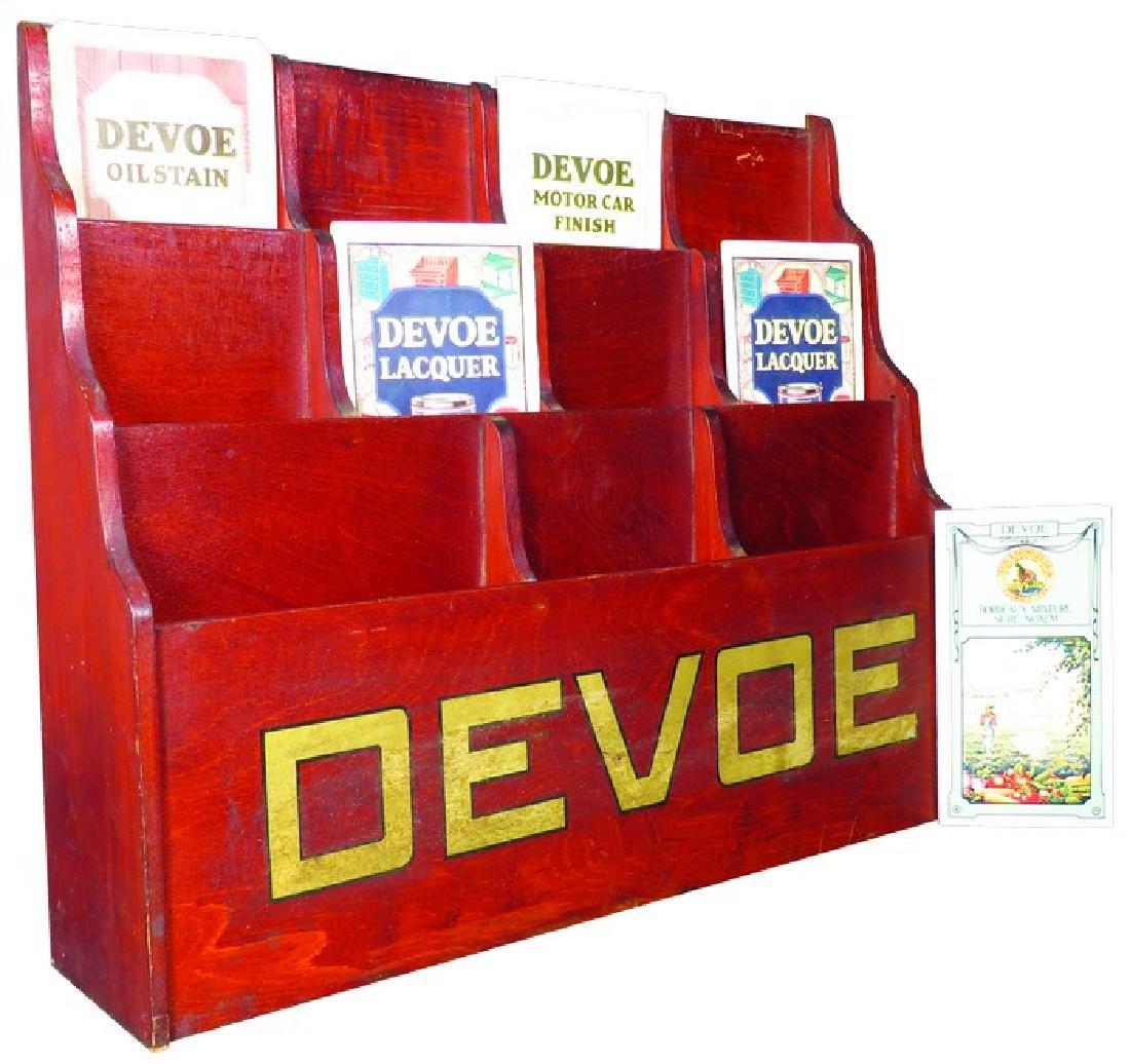 Devoe Paints Hardware Pamphlet Display Rack