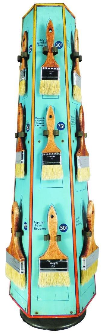 Burton's Paint Brush Hardware Tin Store Display