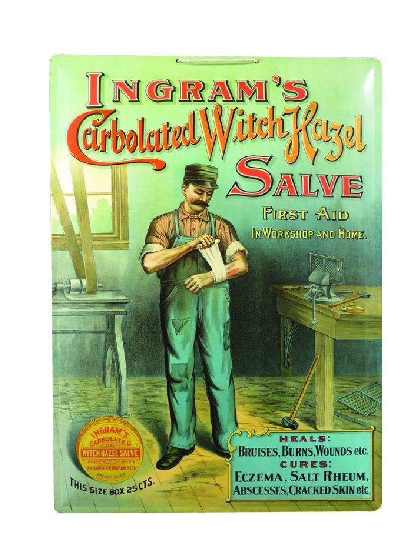 Ingram's Witch Hazel Salve Celluloid Sign
