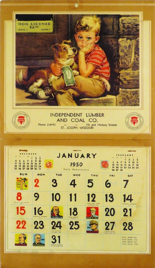 1950 Keen Kutter Calendar